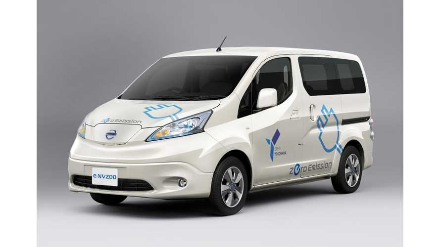 """Nissan e-NV200 to """"Eventually"""" be Sold Worldwide"""
