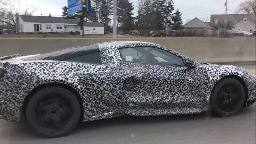 Mid-engined Corvette spied briefly on Michigan highway