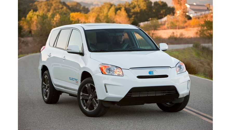 Toyota Discounts The RAV4 EV By $10,000, With 0% Financing.  Lease From $499, Zero Down