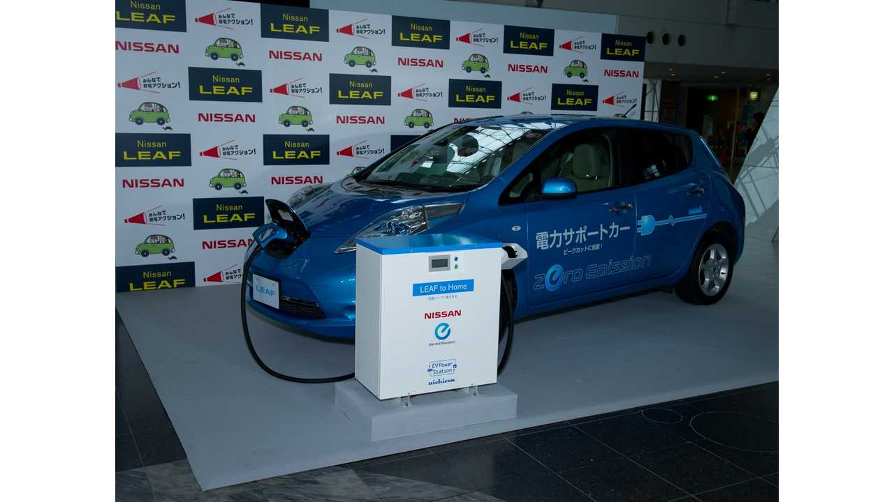 Nissan LEAF and the EV Power Station