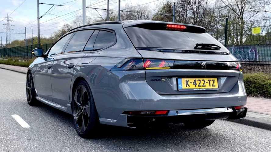 Peugeot 508 PSE hybrid estate undergoes Autobahn acceleration test