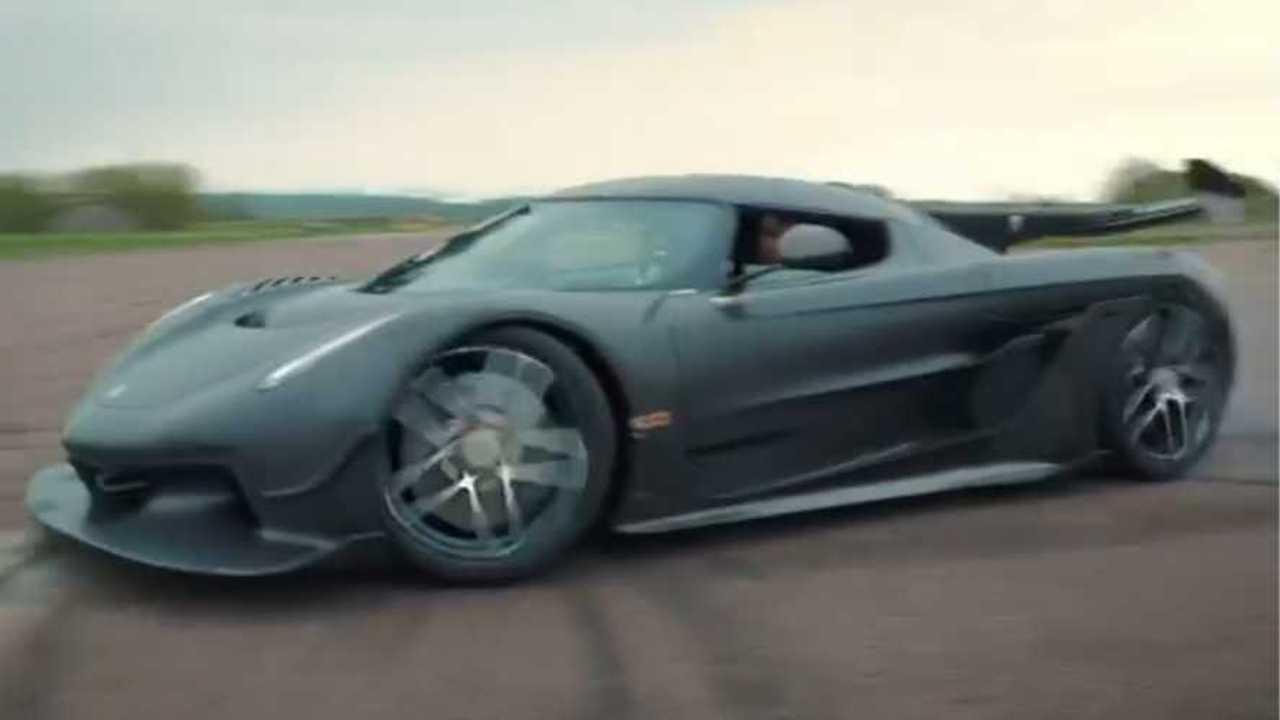 Koenigsegg Jesko Prototypes Track Video
