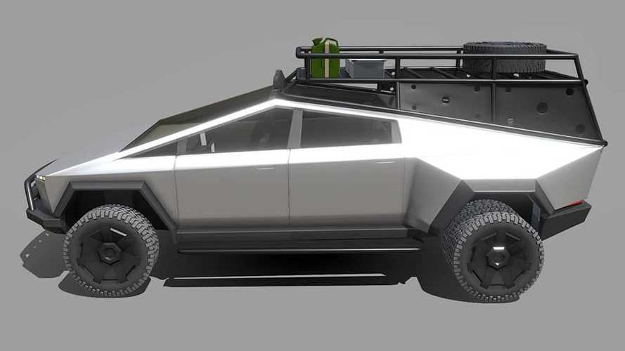 Check Out This Tesla Cybertruck Render With Dually Conversion And Bed Rack