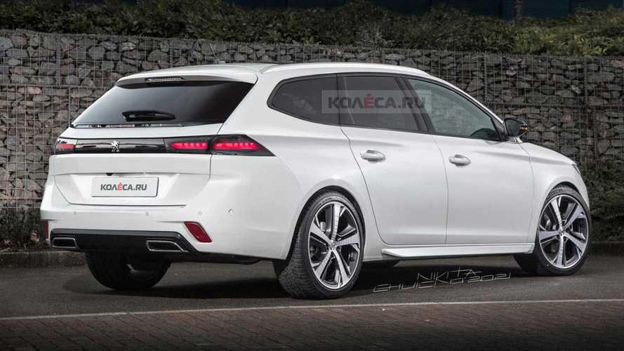 Novo Peugeot 308 SW 2022: projeção antecipa visual da versão perua