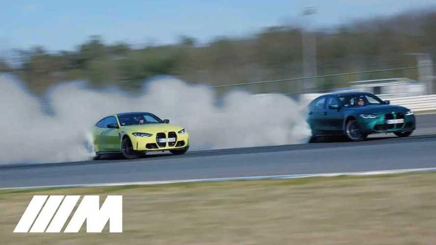 """Le nuove BMW M3 e M4 """"ballano"""" un drifting perfetto in pista"""