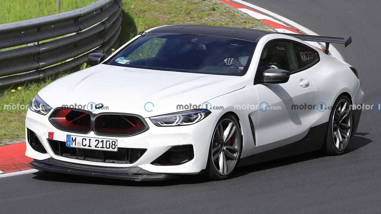 BMW M8 Testing Accessories And Racing Parts