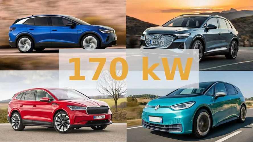 VW ID.3, ID.4, Skoda Enyaq etc: 170 kW Ladeleistung ab Ende 2021?