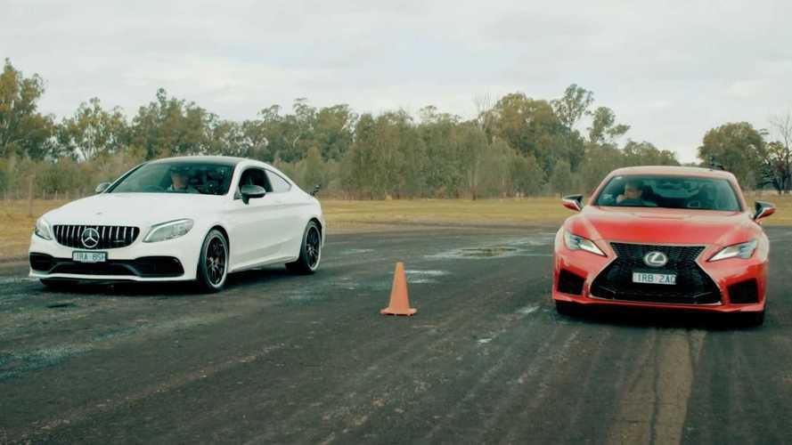 Lexus RC F ile Mercedes-AMG C63 S'in yarışını izleyin