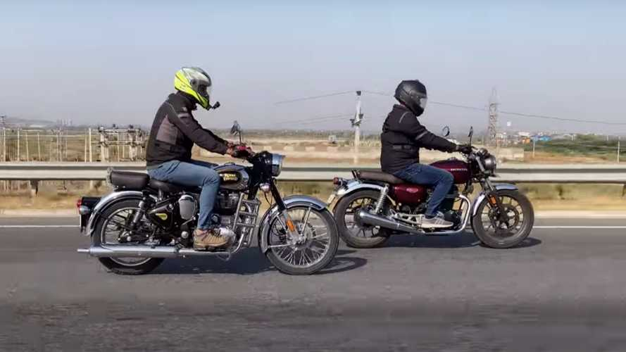 Drag Race: Royal Enfield Classic 350 vs Honda H'Ness CB350