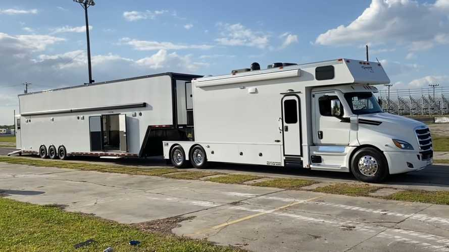 Meet Freedom Force One: Cleetus McFarland's RV With Matching Car Carrier