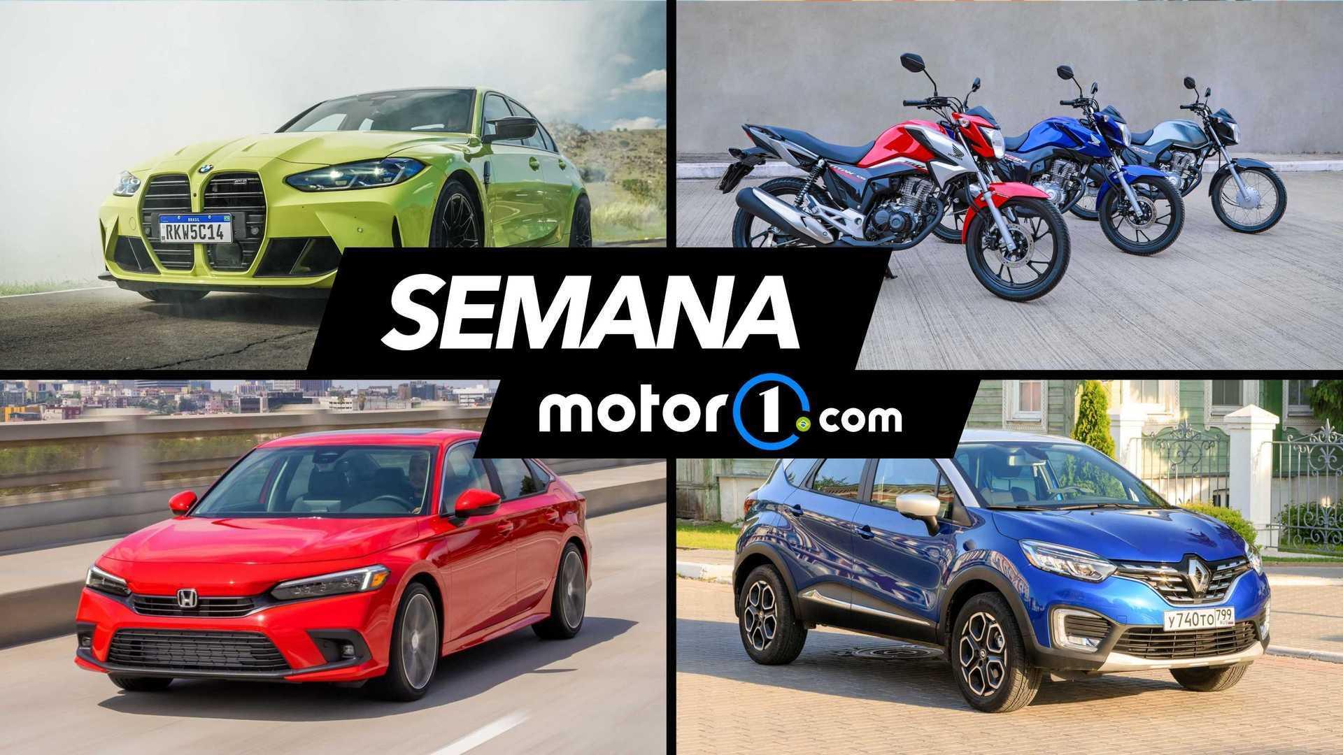 Semana Motor1.com: CG 2022, andamos no Civic 2022, BMW M3 e mais