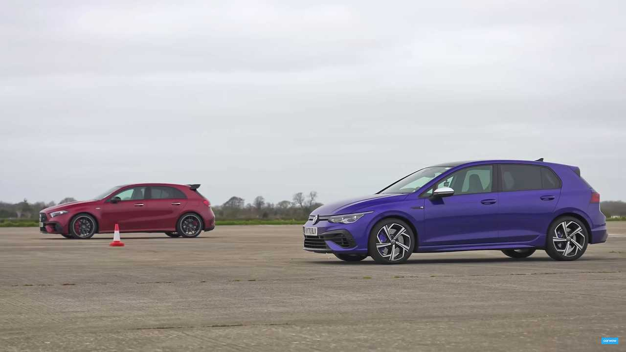 Golf R Vs AMG A45 S Drag Race