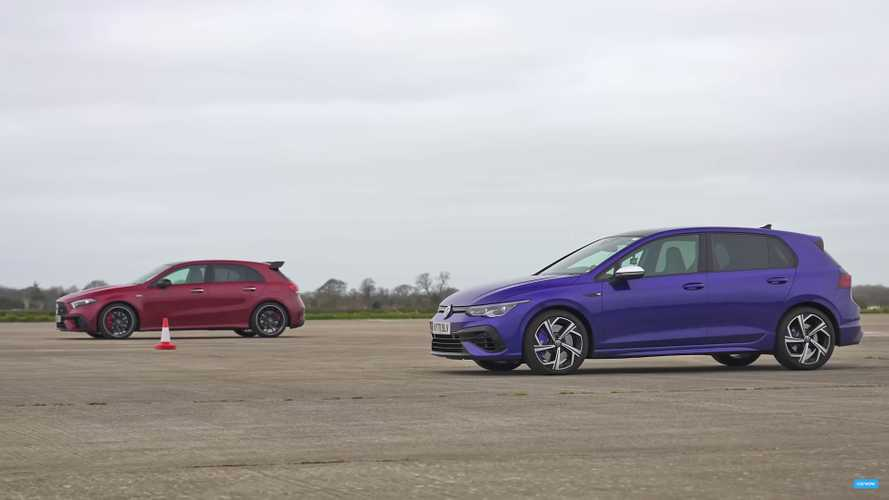 New VW Golf R Drag Races AMG A45 S For German Hot Hatch Supremacy