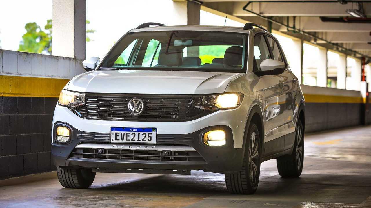Volkswagen T-Cross 200 TSI 2021 - faróis halógenos