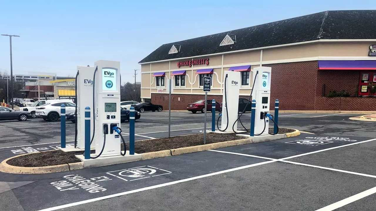 EVgo fast charging station