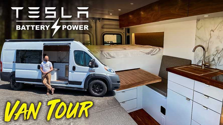 Posh Ram Promaster Camper Van Conversion Packs Tesla Batteries