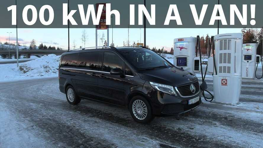 Mercedes-Benz EQV (100 kWh) Winter Range Tested By Bjorn Nyland