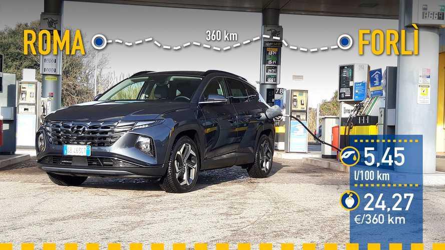 Hyundai Tucson Híbrido 2021: prueba de consumo real
