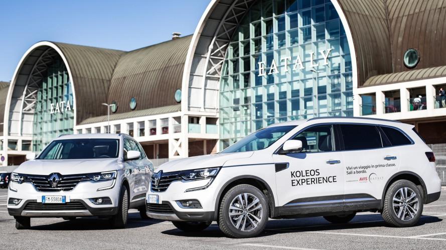 Koleos Experience, 15 courtesy car per chi fa la spesa da Eataly