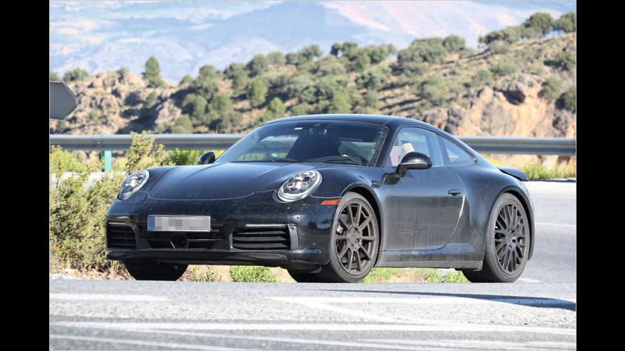 Erwischt: Der neue Porsche 911 von innen