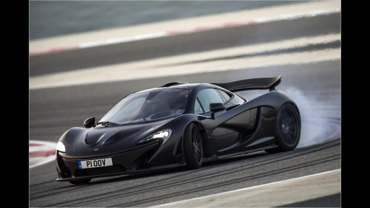 McLaren P1: vermutlich unter sieben Minuten (vermutlich schnellster Brite mit Straßenzulassung)
