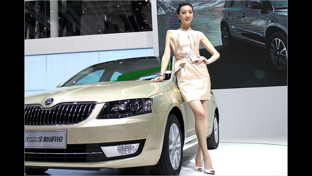 Skoda hat in China schon viele Freunde und schöne Freundinnen