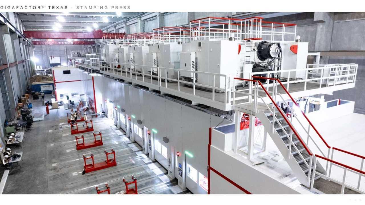 Tesla Giga Texas (Gigafactory 5) - Stamping press (Tesla Q2 2021 report)