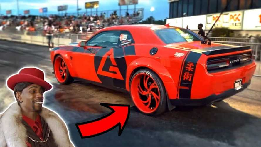 Dodge Demon With 24-Inch Wheels Hits The Drag Strip