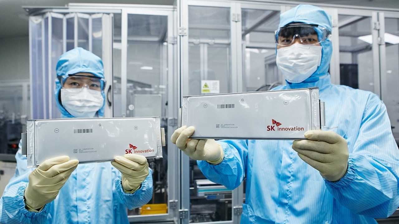 SK Innovation lithium-ion battery cells