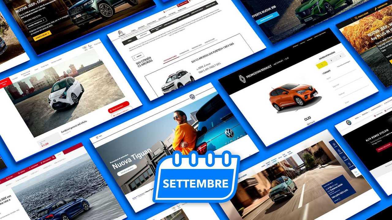 Copertina promozioni auto settembre 2021