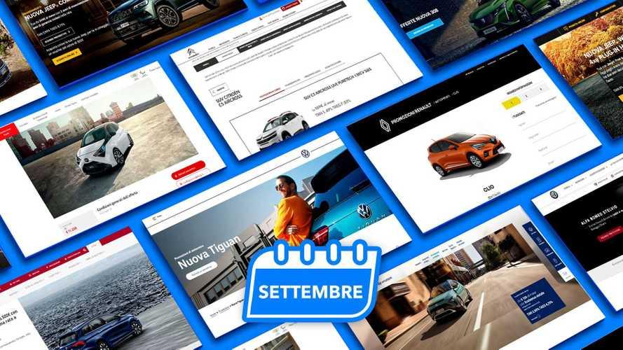 Promozioni auto, tutte le offerte di settembre 2021