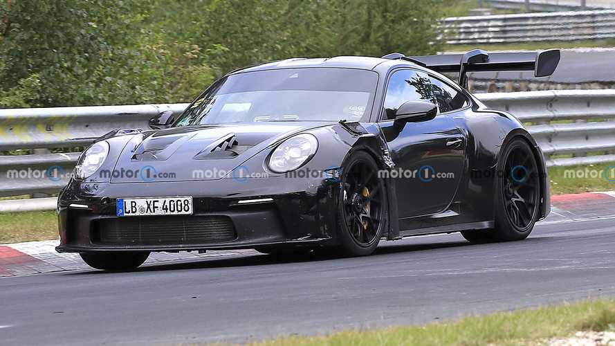 Porsche 911 GT3 RS Spied Looking Mean At The Ring
