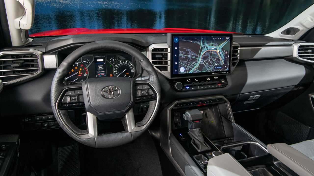 2022 Toyota Tundra Limited TRD off-road interior trim dashboard