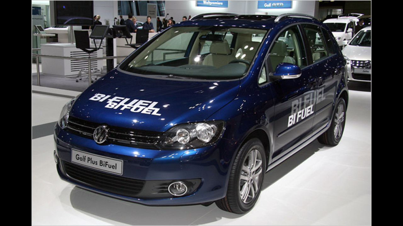 VW Golf Plus (im Bild das BiFuel-Modell)