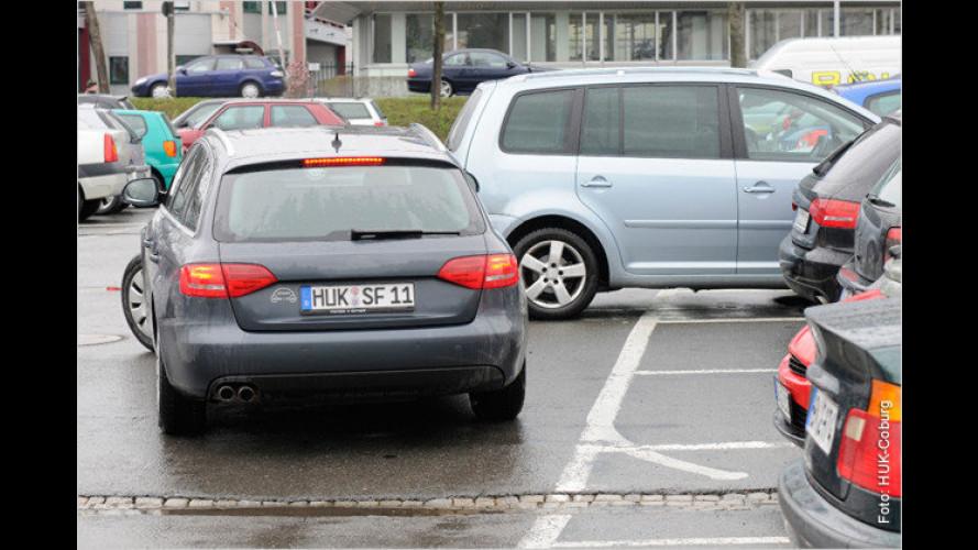 Vorsicht auf dem Parkplatz