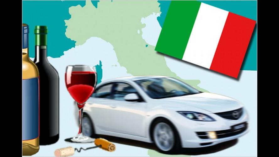 Zu viel Vino am Steuer wird in Italien zukünftig so richtig teuer
