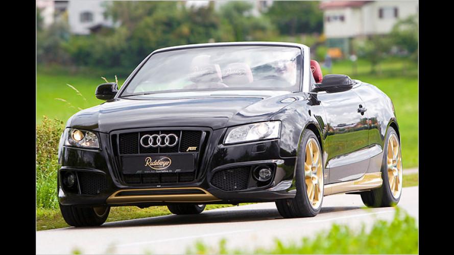 Hauptgewinn: Ein schwarz-rot-goldenes Audi A5 Cabriolet