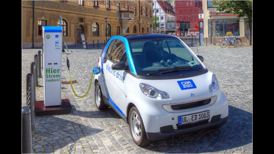 Elektrische Miet-Smarts für Ulm