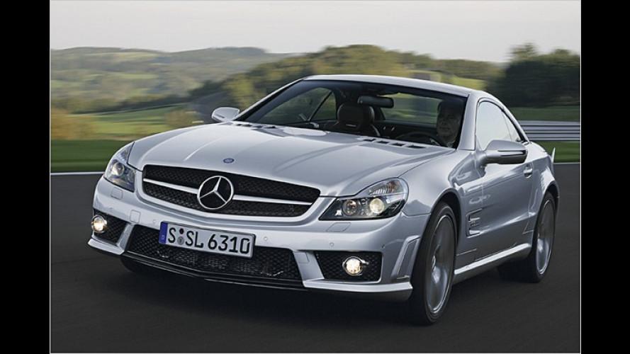 Schnelle Straßenarbeiten: Mercedes SL 63 AMG