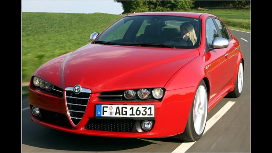 Alfa 159, Brera und Spider: Gewicht gesenkt, Sitze verbessert