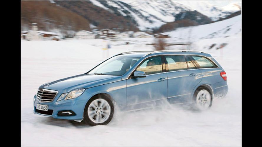 Jubiläum im Schnee: 25 Jahre Mercedes E-Klasse 4Matic