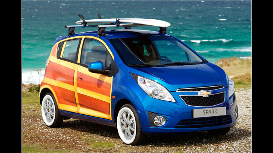 Chevrolet Woody-Car: Spark als cooler Surfer-Star