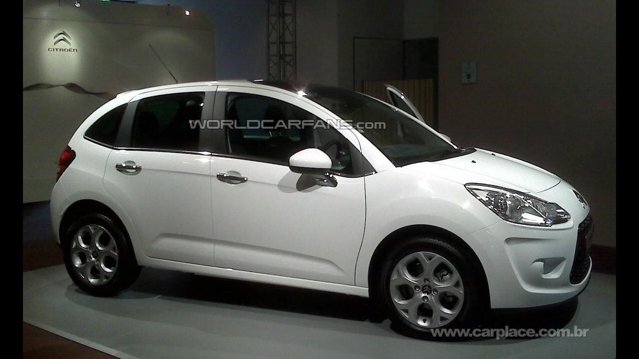 Vazou!!! Novo Citroën C3 2010 é fotografado sem disfarces em evento para revendedores
