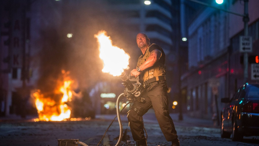 Is the Dwayne Johnson/Vin Diesel feud on Fast 8 a stunt?