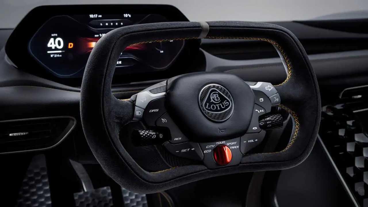 Il volante di una Lotus