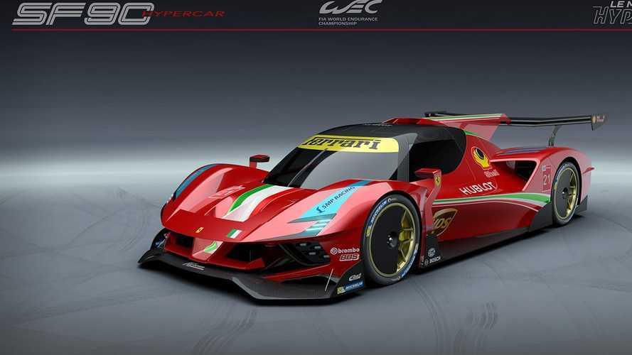 Így nézhetne ki a Ferrari SF90 Stradale, ha rajthoz állna Le Mans-ban