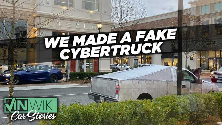 Fake Tesla Cybertruck Spotted in Public: Onlookers Go Crazy