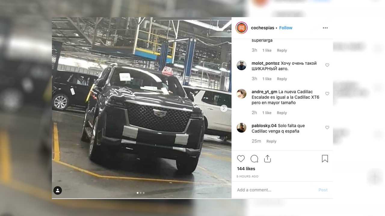 2021 Cadillac Escalade Images Leaked On Instagram