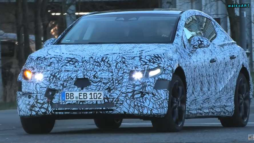 Mercedes EQS Spied In Traffic Hiding Swoopy Shape Under Camo