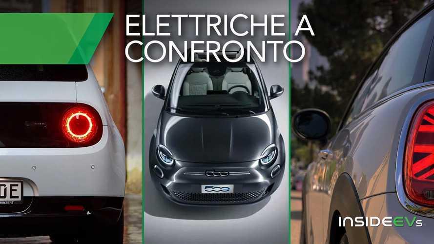 Nuova Fiat 500 elettrica, il confronto con MINI Cooper SE e Honda e